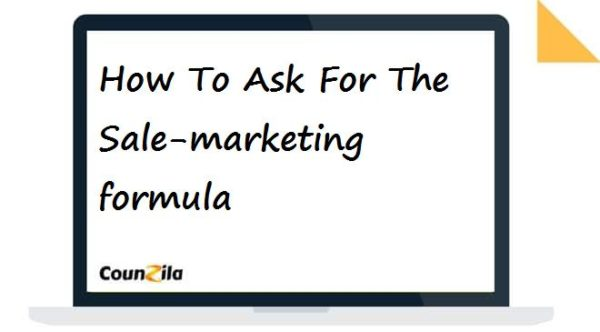 How To Ask For The Sale-marketing formula