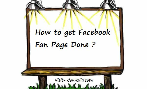 How to get Facebook Fan Page Done