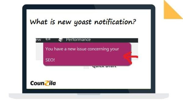 What is new yoast notification