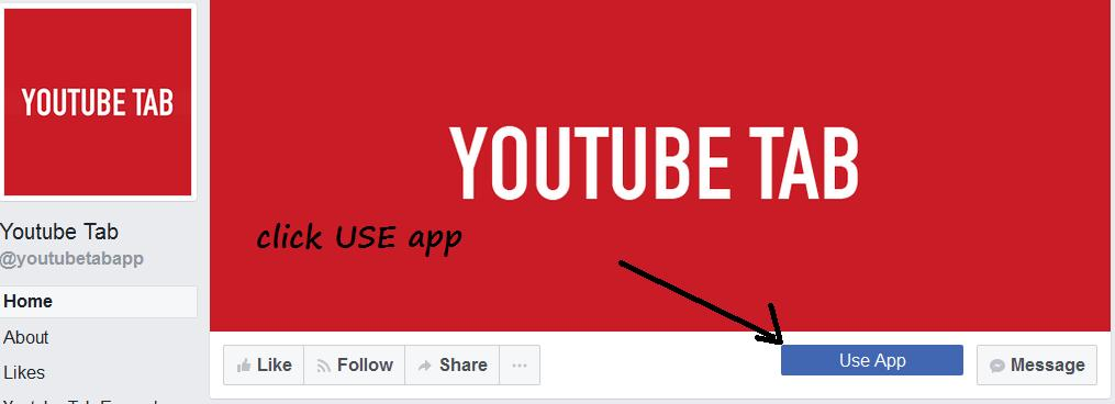 how to add youtube tab facebook page