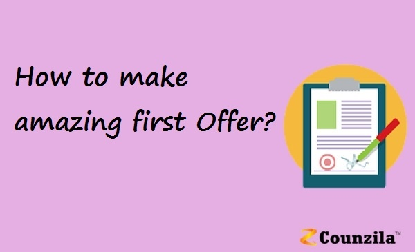 How to make amazing first Offer?