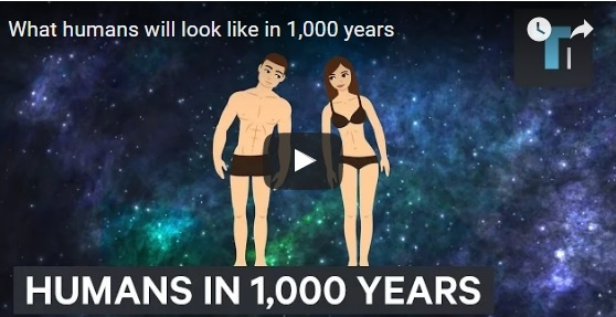 People will look like in 1,000 years