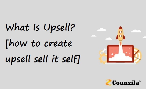 What Is Upsell [how to create upsell sell it self]