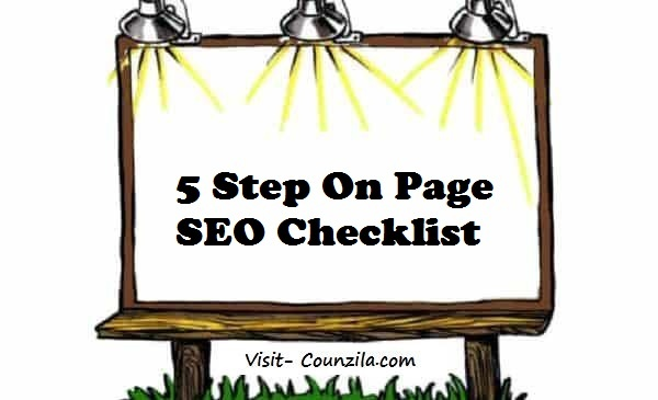 5 Step On-Page SEO Checklist