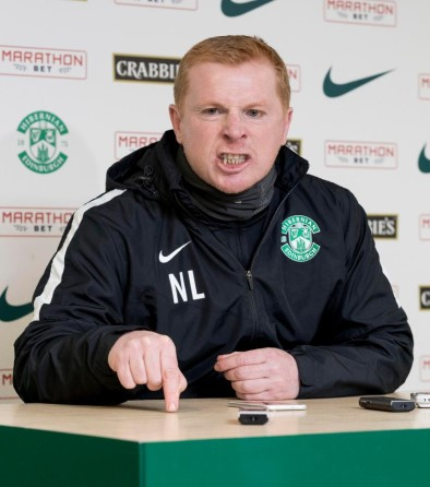 Angry Neil Lennon at press