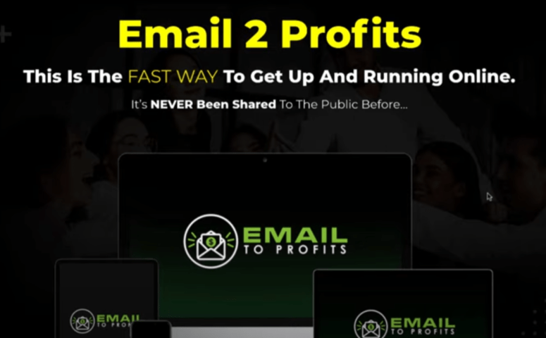 Email 2 Profits demo review - Spam email scraps by Brendan mace